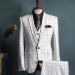 3piece one button  check suits