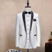 2piece one button cream  suits